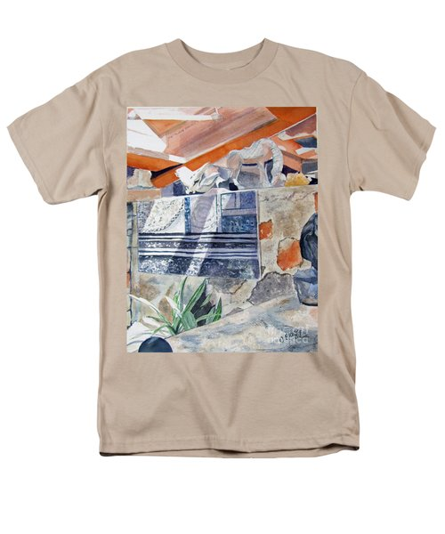 Men's T-Shirt  (Regular Fit) featuring the painting Frank Lloyd Wright Taliesin West 2 by Carol Flagg
