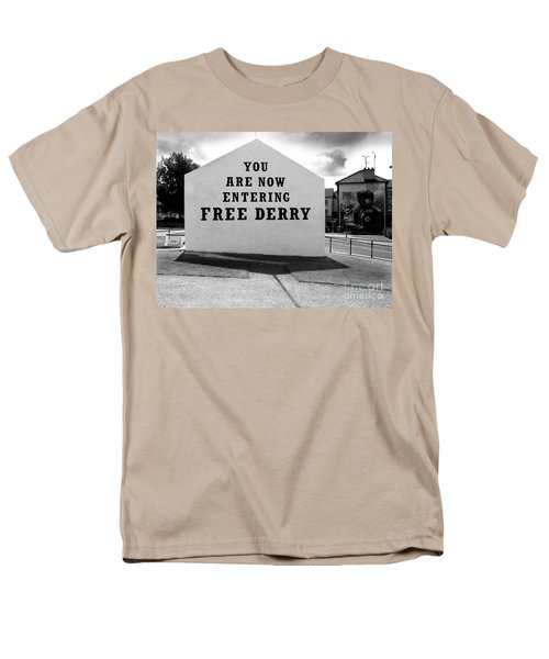 Free Derry Corner Men's T-Shirt  (Regular Fit) by Nina Ficur Feenan