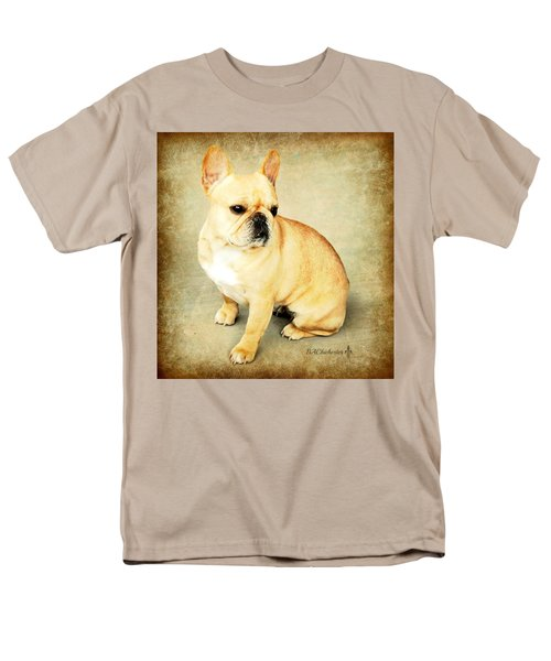 Men's T-Shirt  (Regular Fit) featuring the photograph French Bulldog Antique by Barbara Chichester
