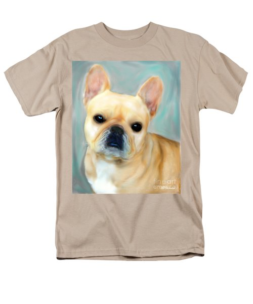 Men's T-Shirt  (Regular Fit) featuring the painting French Bulldog Mystique D'or by Barbara Chichester