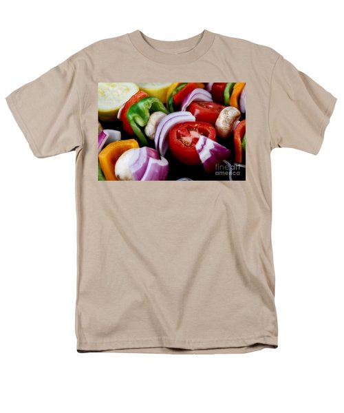 Fresh Veggie Kabobs On The Grill Men's T-Shirt  (Regular Fit) by Peggy Hughes