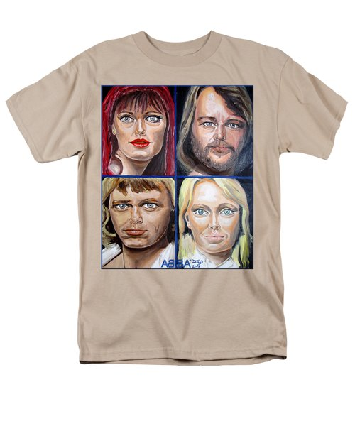 Men's T-Shirt  (Regular Fit) featuring the painting Frida Benny Bjorn Agnetha by Daniel Janda