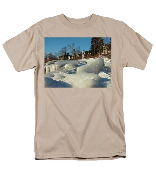 Men's T-Shirt  (Regular Fit) featuring the photograph Frozen Surf by James Peterson