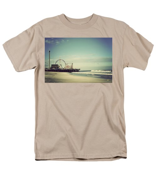 Funtown Pier Seaside Heights New Jersey Vintage Men's T-Shirt  (Regular Fit) by Terry DeLuco