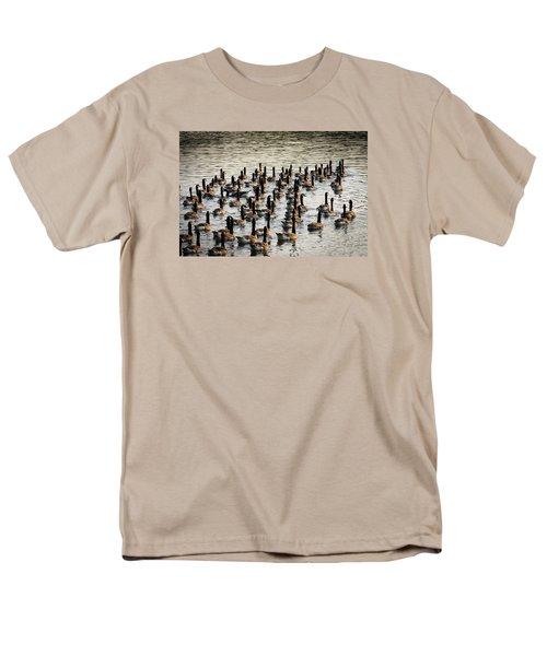 Geese In Sunset Light Men's T-Shirt  (Regular Fit) by Menachem Ganon