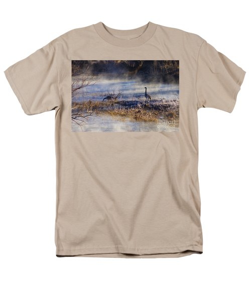 Geese Taking A Break Men's T-Shirt  (Regular Fit) by Jennifer White