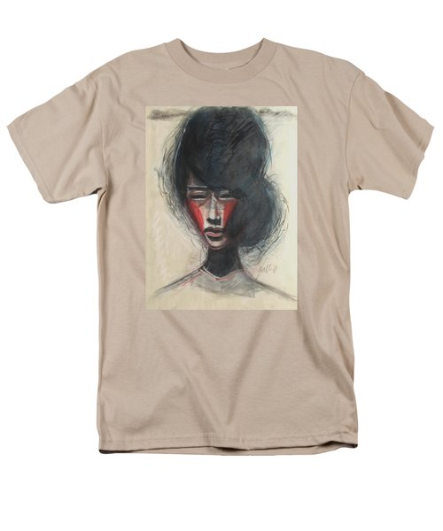 Men's T-Shirt  (Regular Fit) featuring the painting Geisha Make Up by Jarmo Korhonen aka Jarko