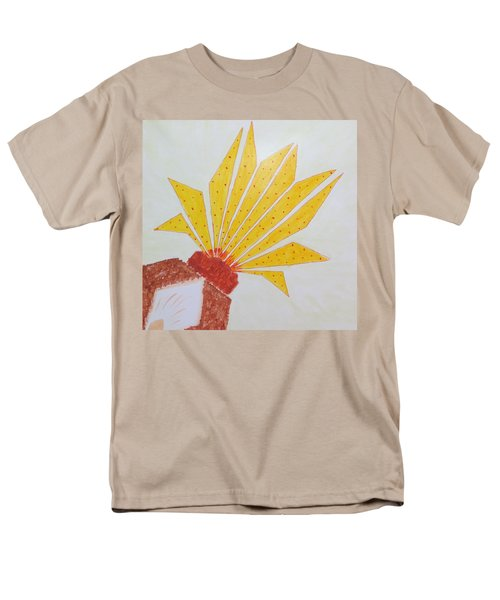 Men's T-Shirt  (Regular Fit) featuring the painting Geometric Blooming Lotus by Sonali Gangane