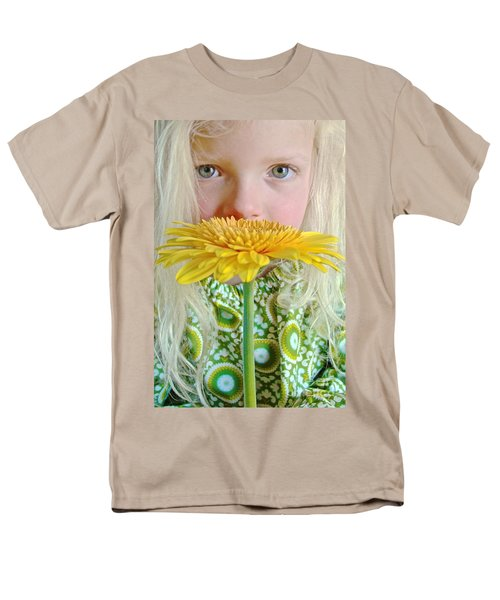 Gerbera Girl Men's T-Shirt  (Regular Fit) by Suzanne Oesterling