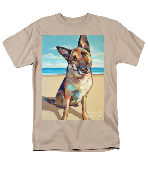 Men's T-Shirt  (Regular Fit) featuring the painting German Shepard  by Robert Phelps