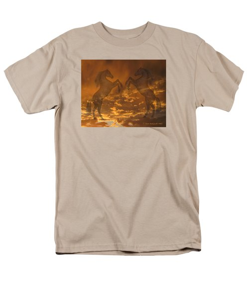 Ghost Horses At Sunset Men's T-Shirt  (Regular Fit) by Donald and Judi Hall