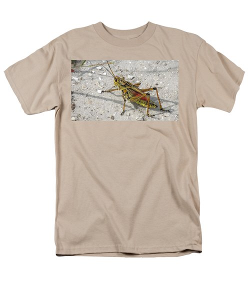 Men's T-Shirt  (Regular Fit) featuring the photograph Giant Orange Grasshopper by Ron Davidson