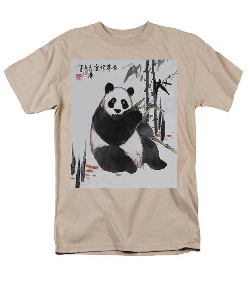 Giant Panda Men's T-Shirt  (Regular Fit) by Yufeng Wang