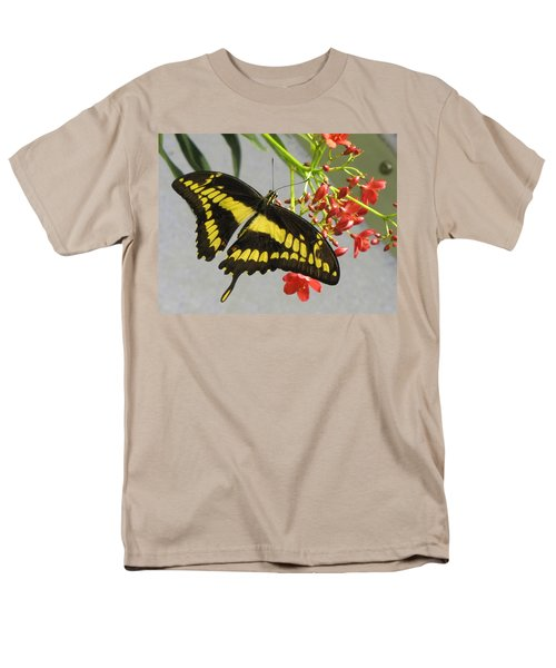 Men's T-Shirt  (Regular Fit) featuring the photograph Giant Swallowtail by Jennifer Wheatley Wolf