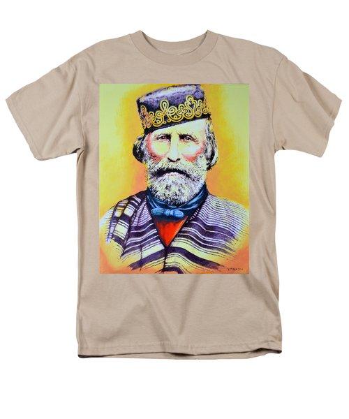 Giuseppe Garibaldi Men's T-Shirt  (Regular Fit) by Victor Minca