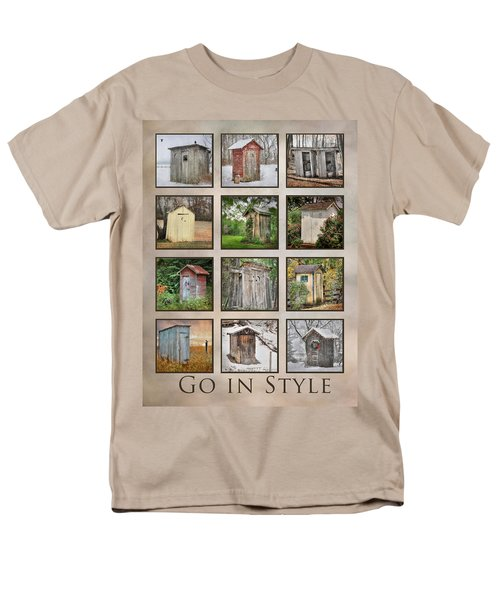 Go In Style - Outhouses Men's T-Shirt  (Regular Fit) by Lori Deiter