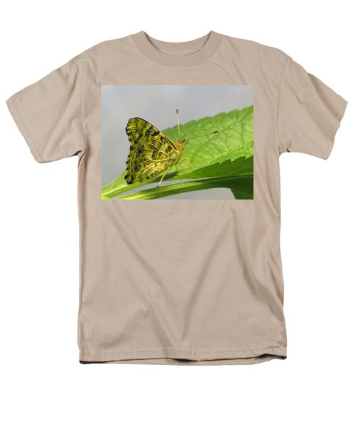 Gold And Green  Men's T-Shirt  (Regular Fit) by Jennifer Wheatley Wolf