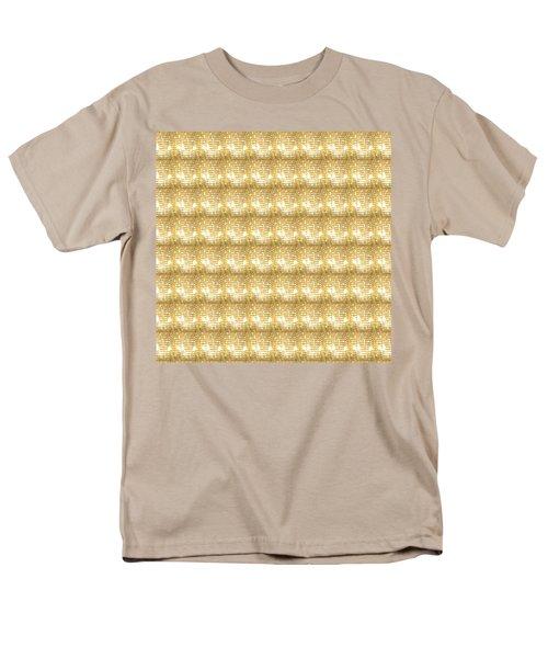 Gold Sparkle Tone Pattern Unique Graphics Men's T-Shirt  (Regular Fit) by Navin Joshi
