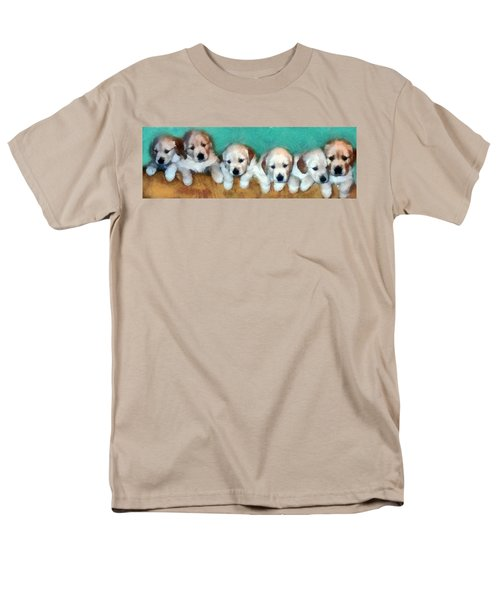 Golden Puppies Men's T-Shirt  (Regular Fit) by Michelle Calkins