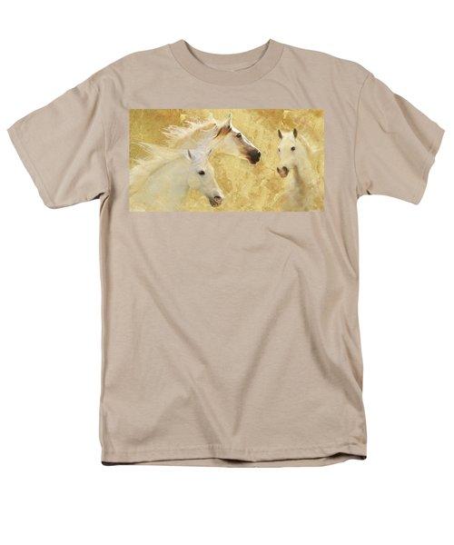 Golden Steeds Men's T-Shirt  (Regular Fit) by Melinda Hughes-Berland
