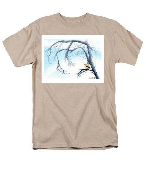 Goldfinch In Tree Men's T-Shirt  (Regular Fit) by C Sitton