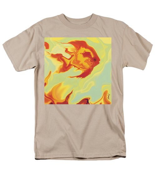 Men's T-Shirt  (Regular Fit) featuring the digital art Goldfish 1 by Rabi Khan