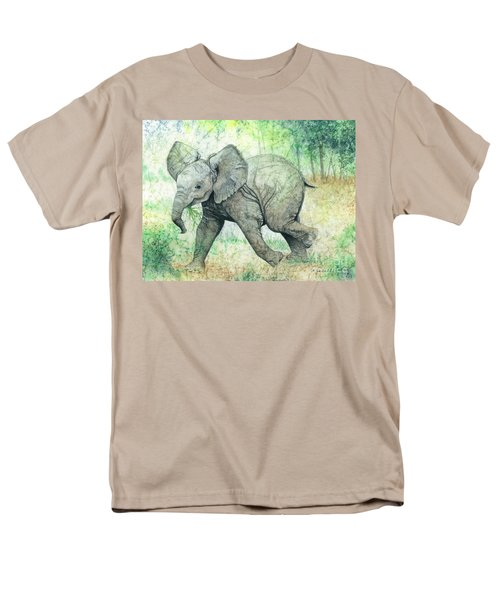 Men's T-Shirt  (Regular Fit) featuring the painting Grabbing A Snack by Barbara Jewell
