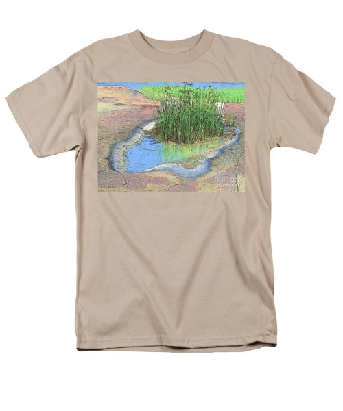 Grass Growing On Rocks Men's T-Shirt  (Regular Fit) by Teresa Zieba