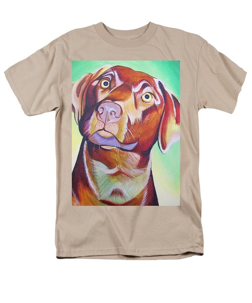 Men's T-Shirt  (Regular Fit) featuring the painting Green And Brown Dog by Joshua Morton