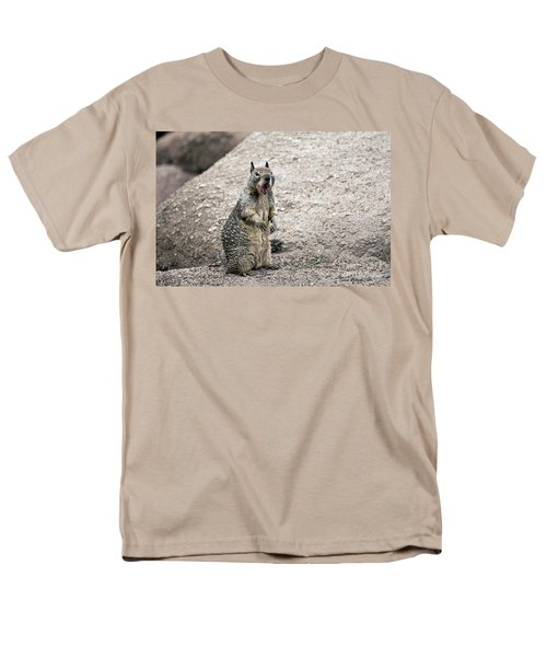 Ground Squirrel Raising A Ruckus Men's T-Shirt  (Regular Fit) by Susan Wiedmann