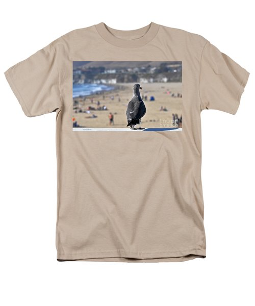 Gull Watching Beach Visitors Men's T-Shirt  (Regular Fit) by Susan Wiedmann