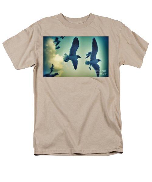 Gulls Men's T-Shirt  (Regular Fit) by Paulo Guimaraes