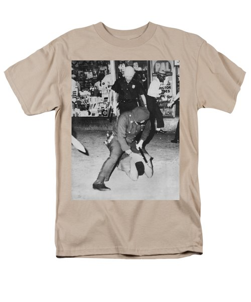 Harlem Race Riots Men's T-Shirt  (Regular Fit) by Underwood Archives