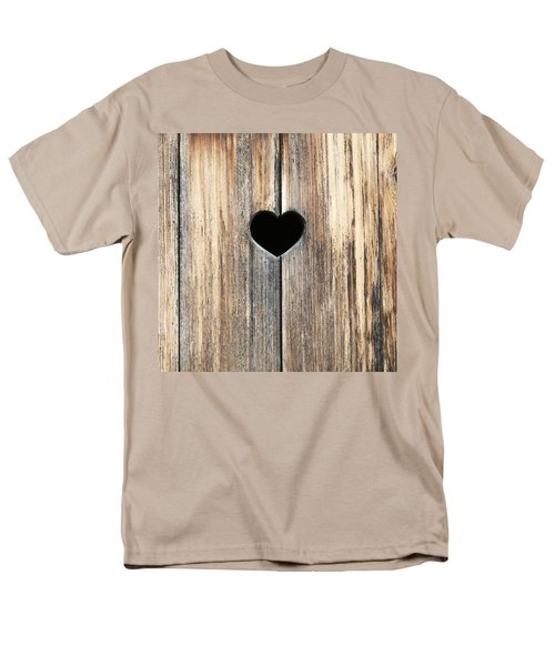 Men's T-Shirt  (Regular Fit) featuring the photograph Heart In Wood by Brooke T Ryan