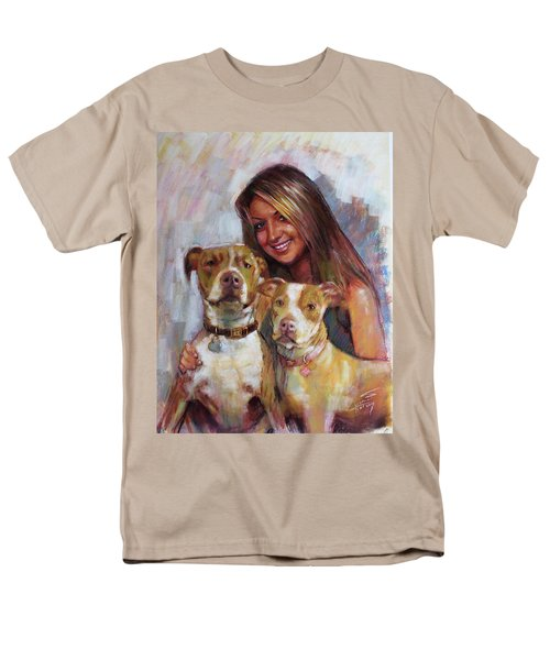 Men's T-Shirt  (Regular Fit) featuring the drawing Her Best Friends by Viola El