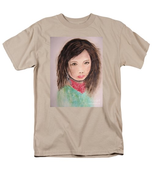 Men's T-Shirt  (Regular Fit) featuring the painting Her Expression Says It All by Chrisann Ellis