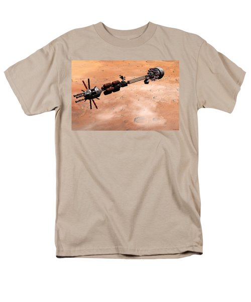 Hermes1 Over Mars Men's T-Shirt  (Regular Fit) by David Robinson