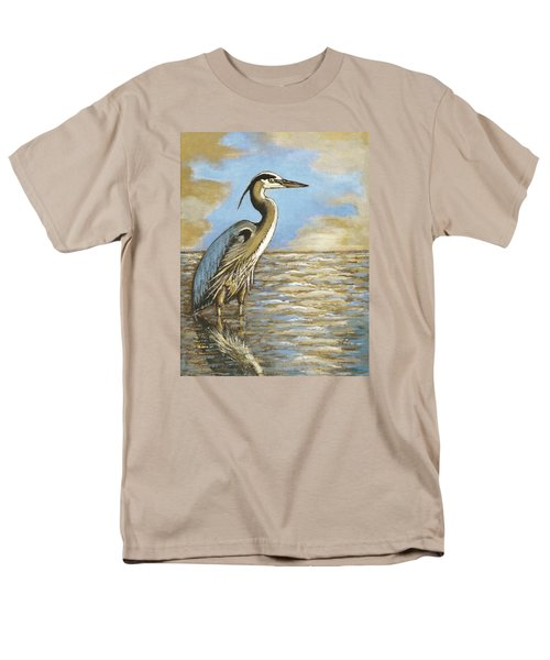 Men's T-Shirt  (Regular Fit) featuring the painting Heron At Bay by VLee Watson
