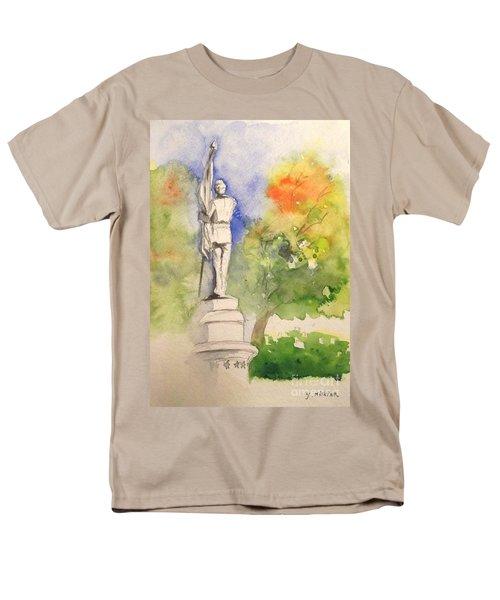 Highland Cemetery-plein Air-ypsilanti Michigan 1 Men's T-Shirt  (Regular Fit) by Yoshiko Mishina