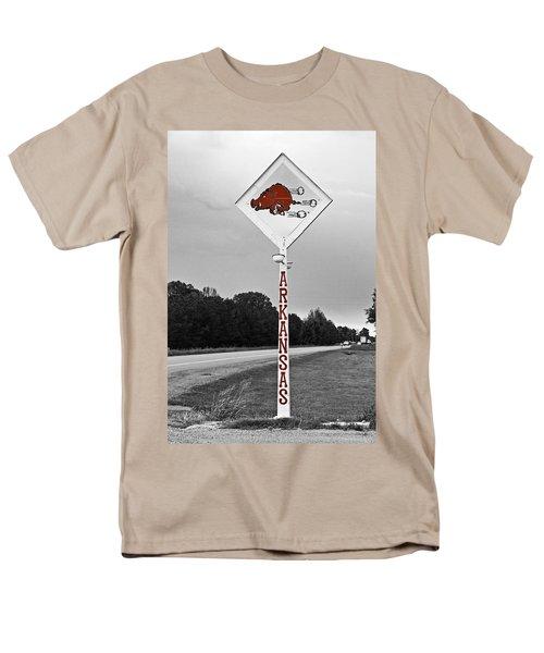 Hog Sign Men's T-Shirt  (Regular Fit) by Scott Pellegrin