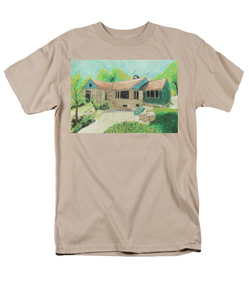 Men's T-Shirt  (Regular Fit) featuring the painting Home Sweet Home by Jeanne Fischer