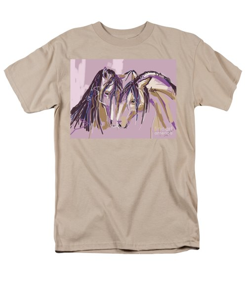 horses Purple pair Men's T-Shirt  (Regular Fit) by Go Van Kampen