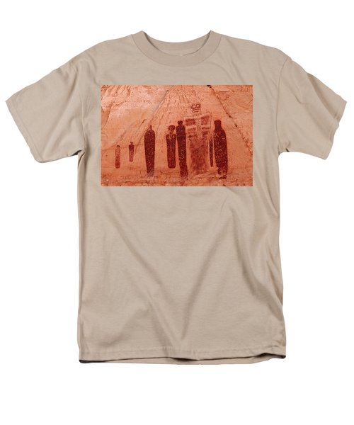 Horseshoe Canyon Pictographs Men's T-Shirt  (Regular Fit) by Alan Vance Ley