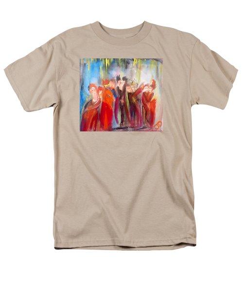 Hot Christmas Polka Men's T-Shirt  (Regular Fit) by Judith Desrosiers