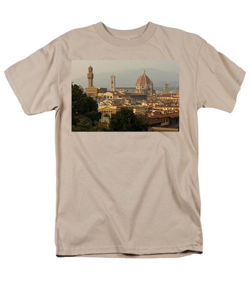 Hot Summer Afternoon In Florence Italy Men's T-Shirt  (Regular Fit) by Georgia Mizuleva