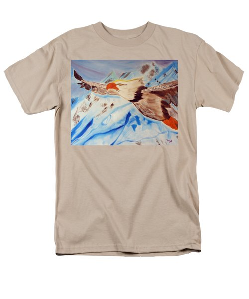 Men's T-Shirt  (Regular Fit) featuring the painting Icy Blue by Meryl Goudey