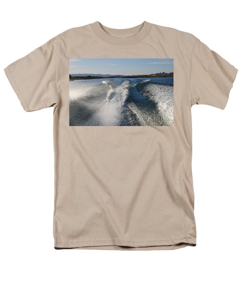 In The Wake Of Lake Havasu Az  Men's T-Shirt  (Regular Fit) by Cathy Anderson