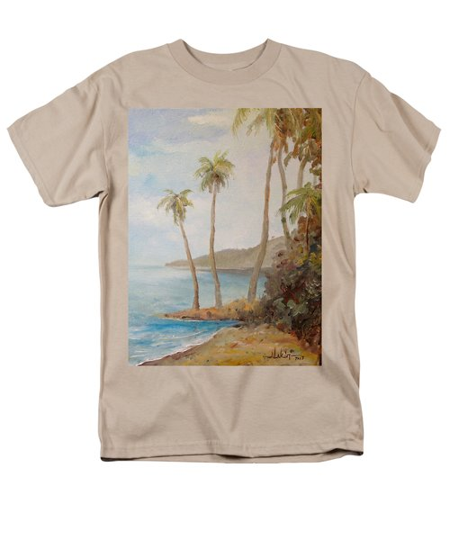 Men's T-Shirt  (Regular Fit) featuring the painting Inside The Reef by Alan Lakin