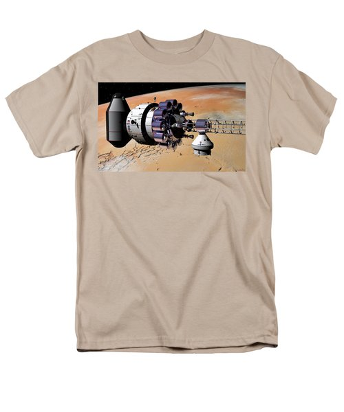 Inspection Over Mars Men's T-Shirt  (Regular Fit) by David Robinson