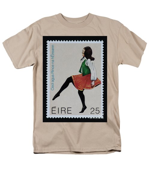 Irish Music And Dance Postage Stamp Print Men's T-Shirt  (Regular Fit) by Andy Prendy